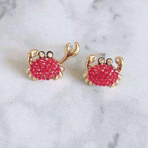 Kate Spade Zircon Inlaid Asymmetric Crab Earrings